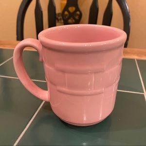Longaberger Pottery Pink Woven Traditions Mug